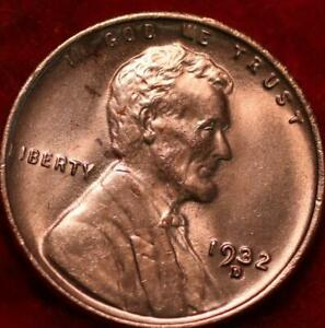 Uncirculated Red 1932-D Denver Mint Copper Lincoln Wheat Cent