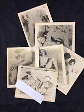 Lot X6 Vtg Original 1940's Snapshot WW2 Era Risque Nude Girl Amateur Photo