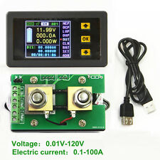 DC Battery 120V 100A Voltage LCD Digital Current Power Capacity Combo Watt Meter