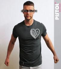 Camisetas de hombre de manga corta en gris con 100% algodón