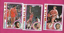 1978-79 TOPPS BASKETBALL CHICAGO BULLS  NRMT-MT  CARD LOT (INV# C5133)