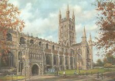 Gloucester Cathedral England, Church of St. Peter - United Kingdom Art Postcard