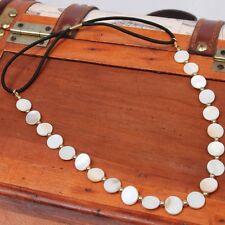 Noble perlas pelo banda cinta del pelo zopfgummi pelo joyas cabeza joyas Fashion