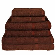 Draps de bain de salle de bain marron coton