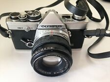 OLYMPUS OM-2 CAMERA + 200 mm lens + original vintage case