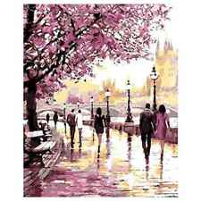 DIY Oil Painting Paint by Numbers Drawing With Brushes Paint for Adults O5Z8