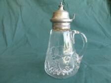 Washington Centennial Early American Pattern Glass Syrup Pitcher
