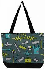 Super Cute Canvas Nurse Print Tote Bag-Monogram Included