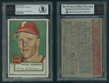 (200) 1952 Topps 216 Richie Ashburn Phillies Authentic Signed Autograph BVG BAS
