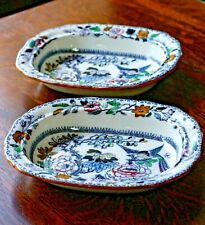 "Ashworth Bros Hanley HandPainted English Transferware 9"" Vegetable Bowl, c. 1910"