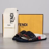 FENDI x FILA 650$ Logo Mania Slides In Multi Color & FF Motif