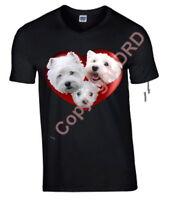 West Highland Terrier Tshirt, T-shirt Crew Neck V Neck Birthday Gift Westie Tee