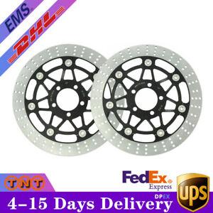 2 Pcs Front Brake Rotor Discs For Kawasaki Ninja ZX6R ZX600J 2004 2005 06 07 08