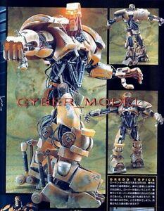 "11""ABC Warrior Robot JUDGE DREDD +LED Eyes Sci-Fi Movies Vinyl Model Kit 1/9"