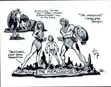 The HERCULOIDS - MAQUETTE DESIGN MODEL SHEET PRINT Hanna Barbera