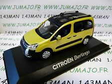 A VOITURE 1/43 NOREV : CITROËN berlingo XTR 2008 or anodise