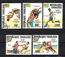 JO été Togo (25) série complète de 5 timbres oblitérés