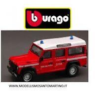 BBURAGO LAND ROVER DEFENDER VIGILI DEL FUOCO EMERGENCY FORCE  DIE-CAST MET 21033