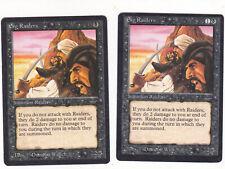 Lot de x2 cartes Erg Raiders Light + dark ARABIAN MAGIC MTG ENGLISH 1993 EX-NM