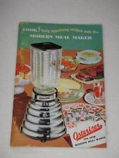 1953 Modern Meal Maker Osterizer Blender Recipe Manual Only