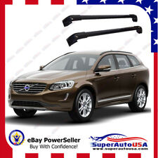 Black Top Roof Rack Fit 2013-2017 VOLVO XC60 Baggage Luggage Cross Bar Crossbar