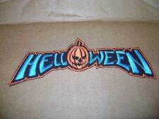 HELLOWEEN,IRON ON BLUE AND ORANGE EMBROIDERED PATCH