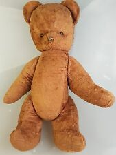 sehr alter brauner Bär Teddy brüllt Rarität um 1930