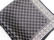 "New 14"" Satin 100% Silk Pocket Square  Black Oyster Pearl"