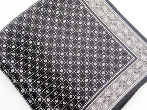 "New 14"" Satin 100% Silk Pocket Square  Black Oyster Pearl-D8"