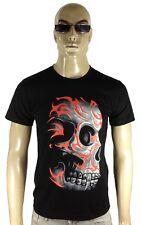 Tribal Tatuaggio hardcore Skull Head Biker Rock Star Metal Club Borchie T-shirt G.L