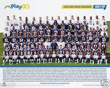 2012 SAN DIEGO CHARGERS NFL FOOTBALL TEAM 8X10 PHOTO PICTURE