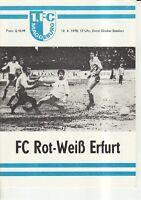 FC Rot-Weiß Erfurt OL 77//78  1 FC Magdeburg