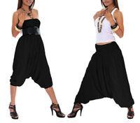 Indian Black Harem Gypsy Hippie Ali Baba Baggy Pants Women Trousers Boho Yoga