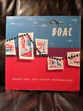 More details for boac foldout world map and flight information