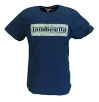 Lambretta Mens Navy Paisley Logo Retro 100% Cotton T Shirt …