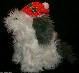 VINTAGE CHRISTMAS COMMONWEALTH 1990 SHAGGY PUPPY DOG STUFFED ANIMAL PLUSH TOY
