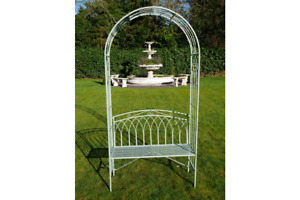 Gorgeous Ornate Garden Arch With Bench Seat.For Garden Terrace or Patio.