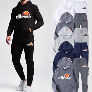 ellesse Mens Hoodies Tracksuit Sweatshirt Suit Bottoms Jogging Sport Gym Pants