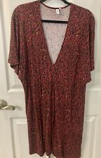 & Other Stories Abstract Leopard Print Belt Dress size 10