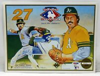 "JIM ""CATFISH"" HUNTER SIGNED AUTOGRAPHED 8.5x11 PHOTO UPPER DECK PSA/DNA AE93637"