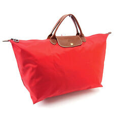 Longchamp Handbag Red Brown Woman Authentic Used P087