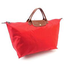 Auth Longchamp handbag hose unisexused P087