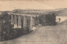 CPA SUISSE SCHWEIZ FRIBOURG pont du grand fey timbrée 1927