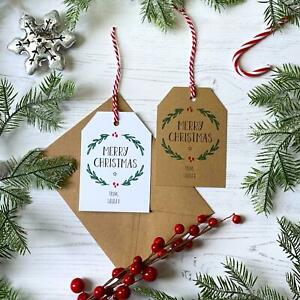 Personalised Christmas Gift Tags / Eco Wrapping / Rustic Family Present Labels