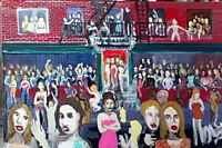 The Bar  by william mayer   new york city artist   night music scene