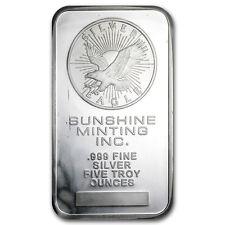 5 oz Silver Bar - Secondary Market - SKU #10449