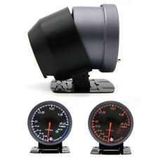 1x 60mm LED Car Racing Turbo Boost Gauge Vacuum Pressure kpa Meter w/ Pod Mount