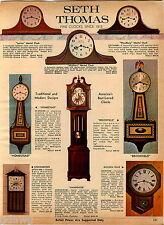 1969 ADVERTISEMENT Clock Seth Thomas Elgin Zeeland Colonial Grandfther Westclox