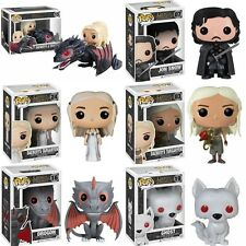 Funko Pop Game of Thrones Daenerys Drogon Ride Jon Snow Wolf Vinyl Figure Gift