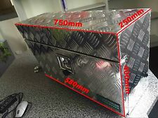 Aluminium Toolbox 750*250*400 mm Storage Trailer Under Body Under Tray Tool Box